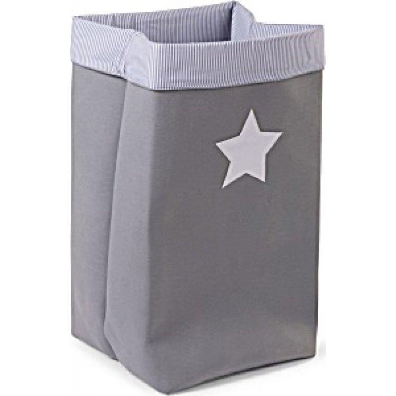 Childhome κουτί αποθήκευσης καμβάς  32x32x60 grey stripes