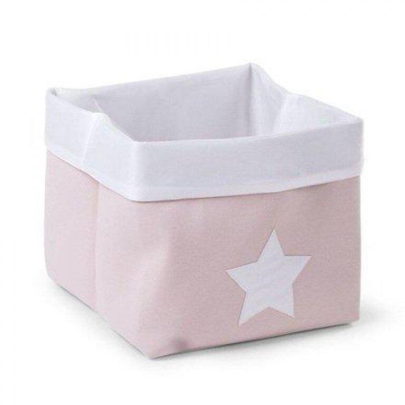 Childhome κουτί αποθήκευσης καμβάς 40x30x20 cm pink white