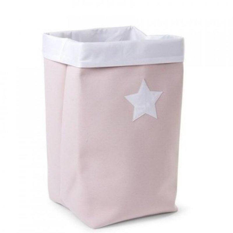 Childhome  κουτί αποθήκευσης καμβάς 32x32x60 cm pink white