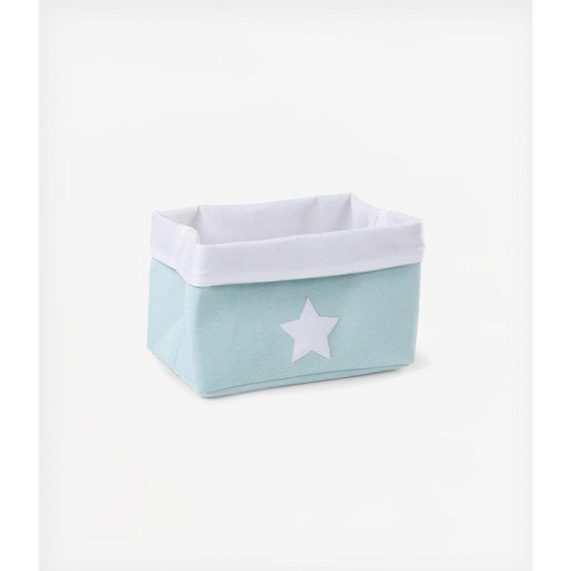 Childhome κουτί αποθήκευσης καμβάς 32x20x20 cm Mint White