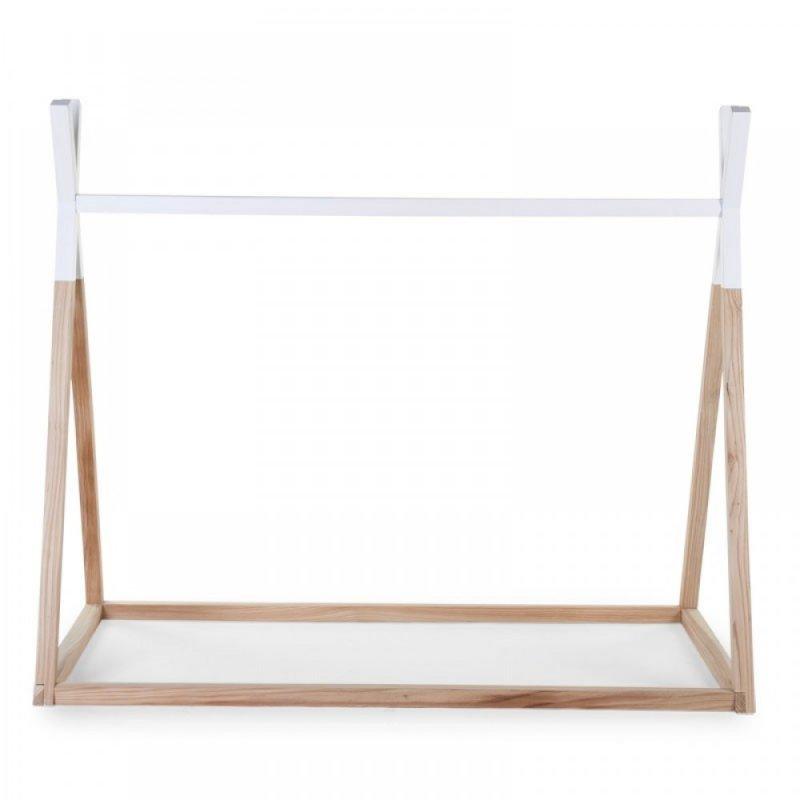 Childhome παιδικό κρεβάτι Tipi 70 x 140 cm white / natural