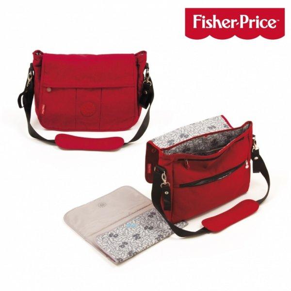 Fisher price τσάντα αλλαξιέρα κόκκινη 39x14x30.5