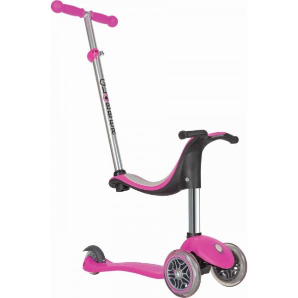 Globber Scooter EVO 4in 1 Deep Pink