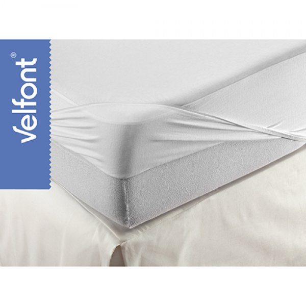 Grecostrom Respira Cotton αδιάβροχο κάλυμμα Fitted Sheet UK White 90x200 cm