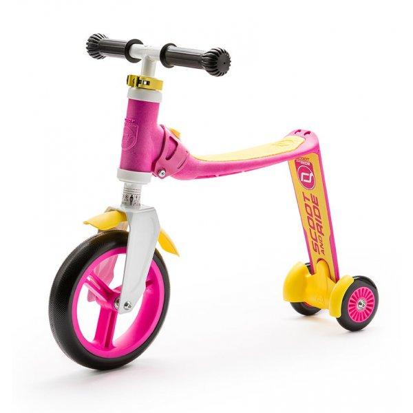 Highwaybaby+ παιδικό ποδήλατο ισορροπίας πατίνι 2 σε 1 Pink/Yellow