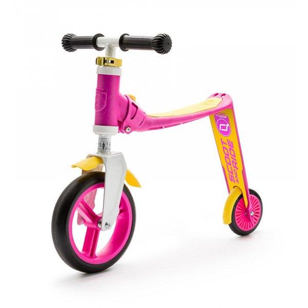 Highwaybaby παιδικό ποδήλατο ισορροπίας πατίνι 2 σε 1 Pink/Yellow