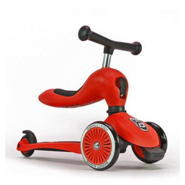 Highwaybaby kick πατίνι και ποδήλατο ισορροπίας κόκκινο από 1 έως 5 ετών