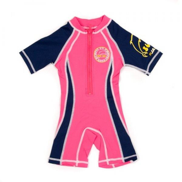 Jakabel shorty sunsuit αντιηλιακό μαγιό θαλάσσης 1-2 ετών pink navy