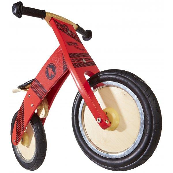 Kiddimoto ξύλινο ποδήλατο ισορροπίας kurve red type
