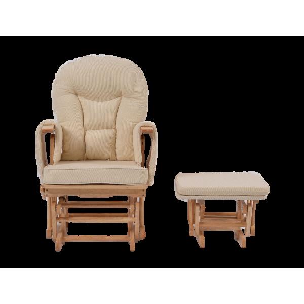 Πολυθρόνα Θηλασμού Wooden Glider natural beige