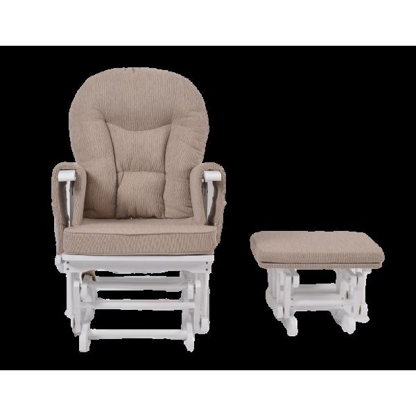 Πολυθρόνα Θηλασμού Wooden Glider White Grey