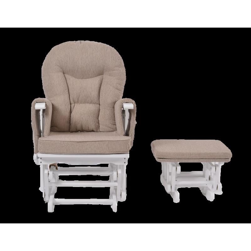 c215ddaeb6b Πολυθρόνα Θηλασμού Wooden Glider White Grey