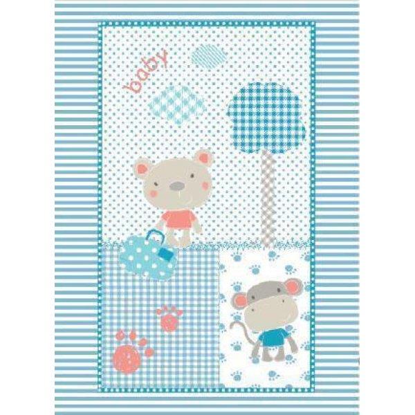Kikka Boo Κουβέρτα Αγκαλιάς Fantasia Βελουτέ 110x80 μπλε
