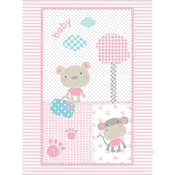 Kikka Boo Κουβέρτα Αγκαλιάς Fantasia Βελουτέ 110x80 Ροζ