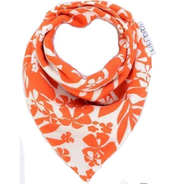 Kiki Bibs Σαλιάρα-μπαντάνα Orange flowers
