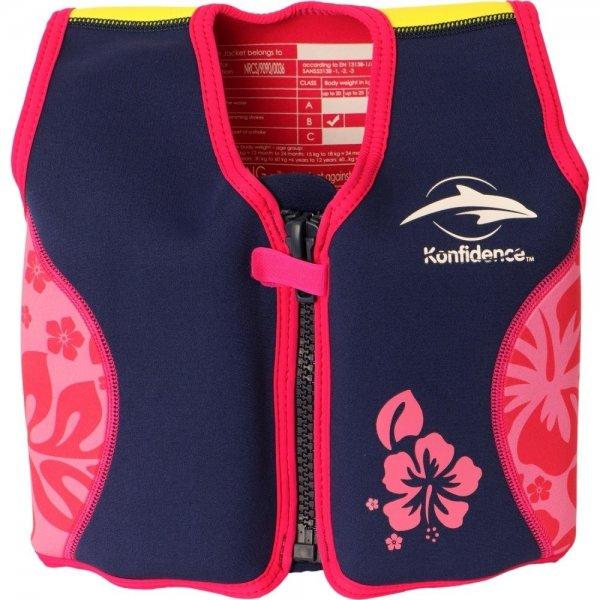 Konfidence Σωσίβιο - γιλέκο Original Jacket Pink Hibiscus 18-36 μηνών