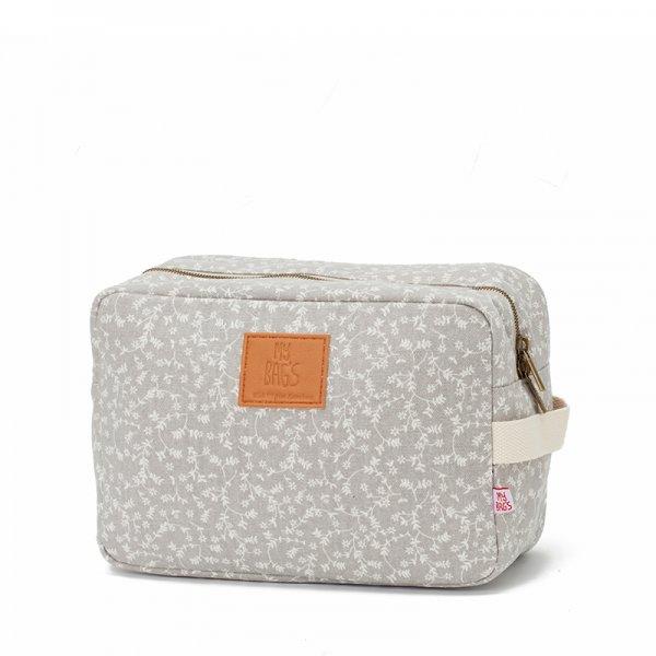 5d53e2cd8f My bags Travel τσάντα νεσεσέρ flowers light grey