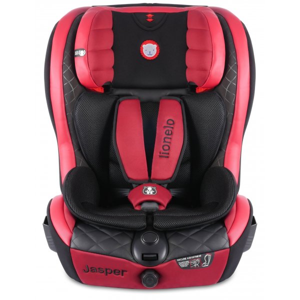 Lionelo κάθισμα αυτοκινήτου Jasper red Leather 9-36 kg Δώρο η ηλιοπροστασία τζαμιού και Organizer θέσης