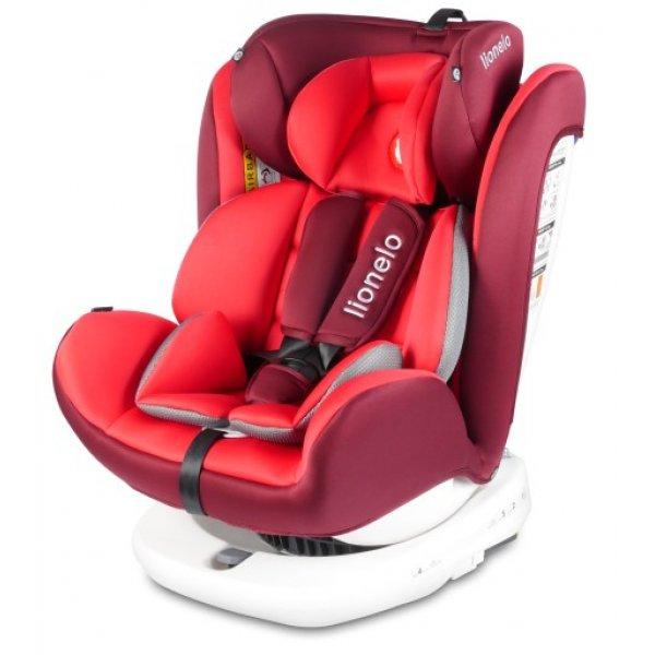 Lionelo παιδικό κάθισμα αυτοκινήτου Bastian BL isofix red 0-36 kg   & Δώρο 2 ηλιοπροστασίες και organizer