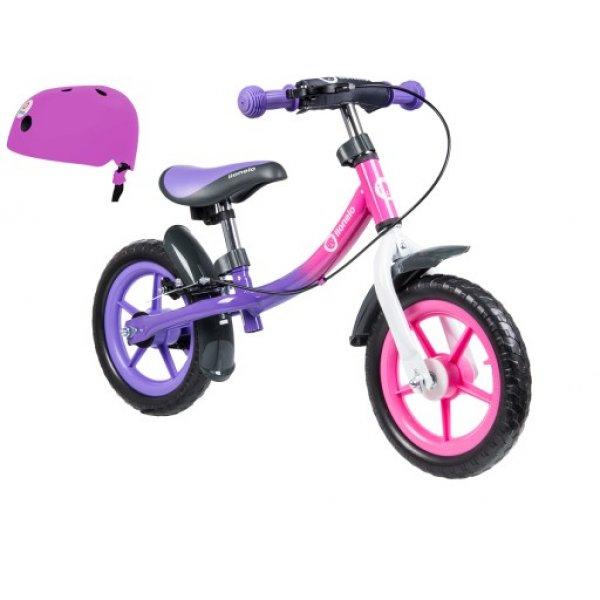 Lionelo ποδήλατο ισορροπιας Dan Plus Pink με δώρο κράνος