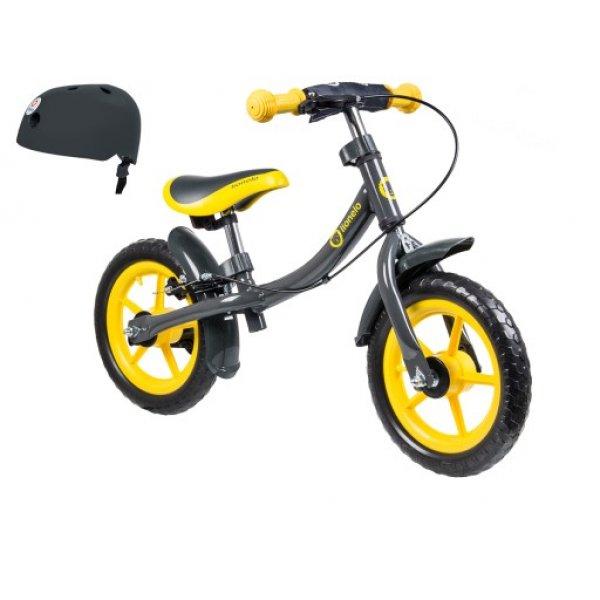 Lionelo ποδήλατο ισορροπιας Dan Plus Yellow με δώρο κράνος