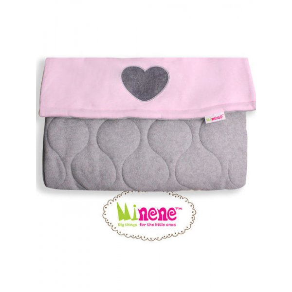 Minene βρεφικός ποδόσακος cosy foot muff/grey & baby pink with