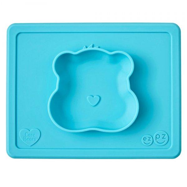 Ezpz Care Bear bowlΔίσκος και μπολ σε ένα in blue