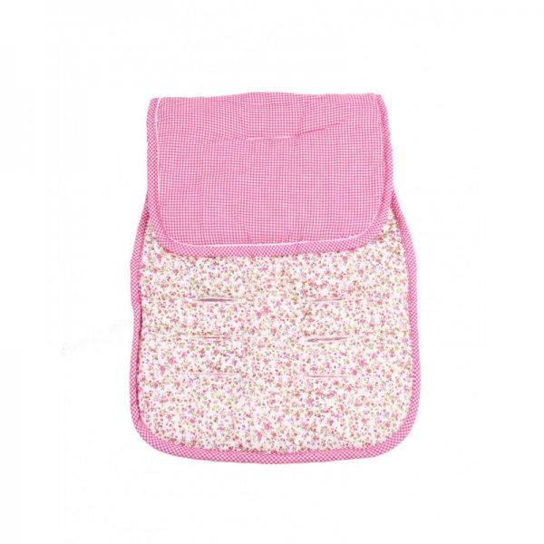 Minene κάλυμμα για το καρότσι και το κάθισμα αυτοκινήτου flower pink