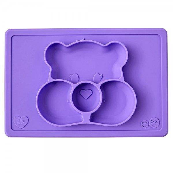 Ezpz Care Bear mat Δίσκος και πιάτο σε ένα in purple