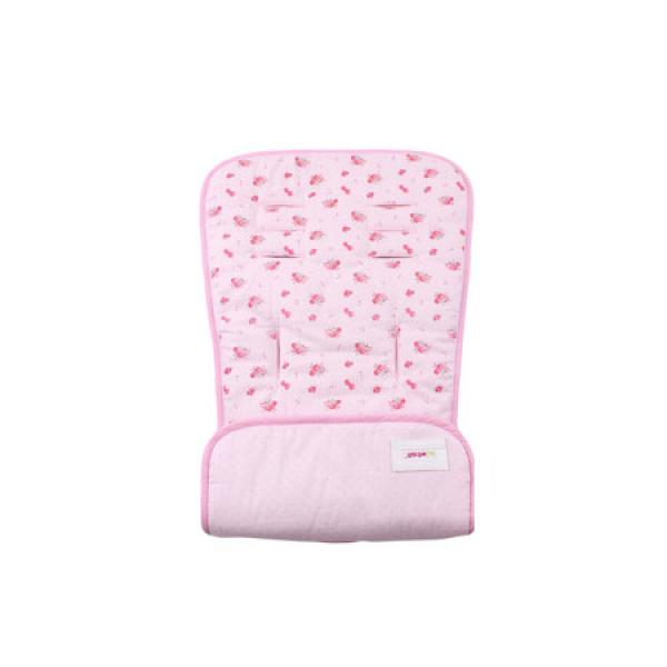 Minene κάλυμμα καροτσιού διπλής όψεως baby pink flora