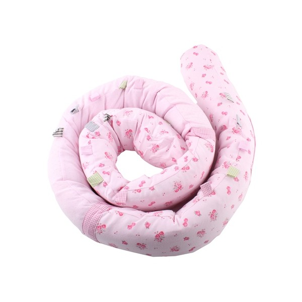 Minene Snuggly Snake  πολυχρηστικό μαξιλάρι πάντα pink flower