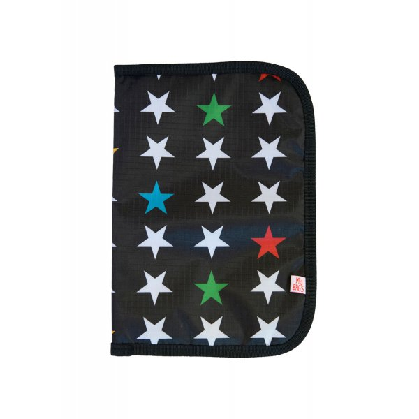 My Bags Θήκη βιβλιαρίου υγείας μαύρη αστέρι