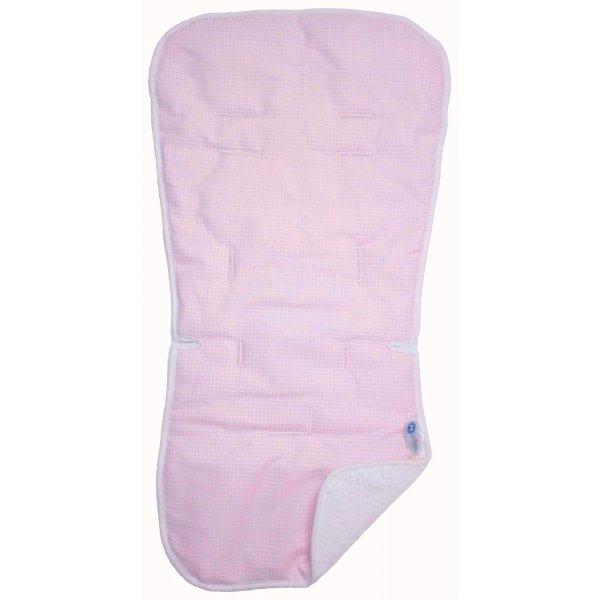 Ο κόσμος του Μωρού Στρώμα καροτσιού καθίσματος αυτοκινήτου βαμβακερό ροζ σχέδιο