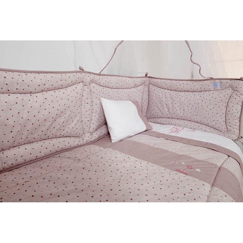 Ωμέγα σετ προίκας μωρού 3 τεμ. ροζ αστεράκια da84e38d94a
