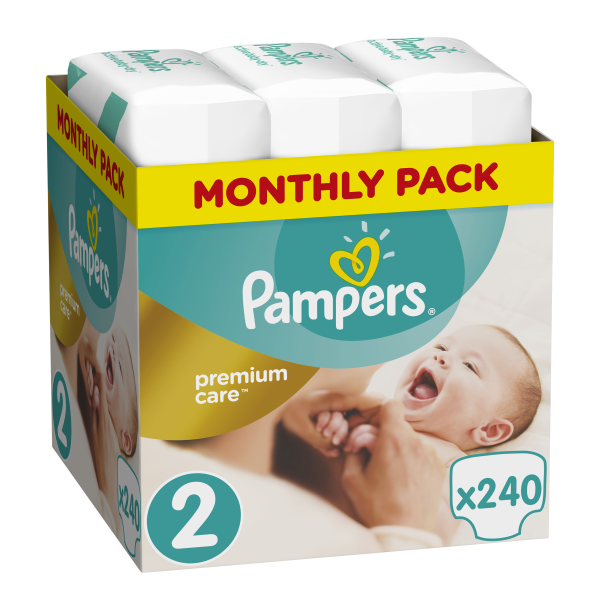 Pampers Premium care Monthly pack 240 τεμάχια Νο 2 (3-6 kg)