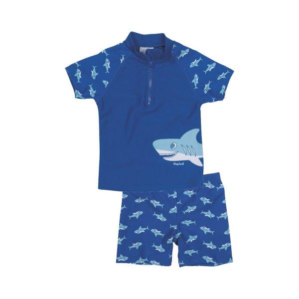 04da54d9200 Playshoes βρεφικό αντιηλιακό μαγιό σετ μπλουζάκι σορτσάκι blau shark