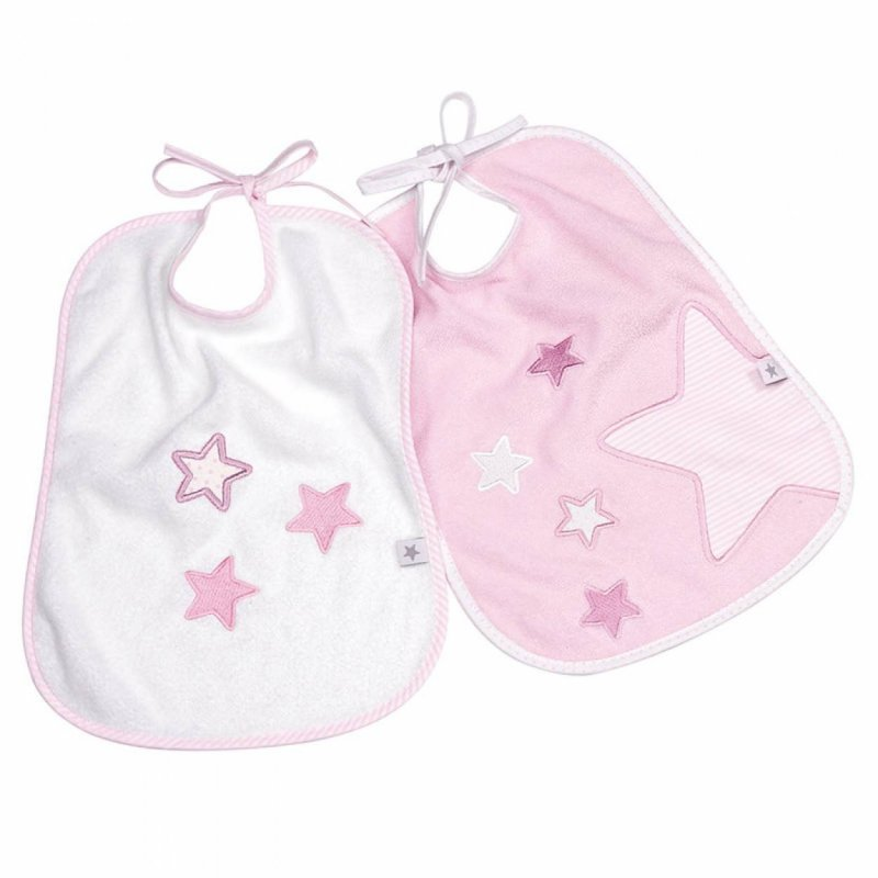 31f86c5a17 Fashy Little Stars Terry bib σαλιάρα ροζ 2 τεμ αστεράκια