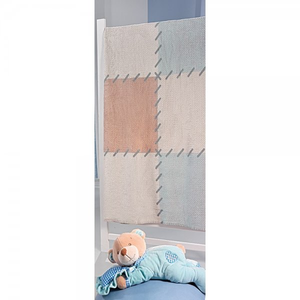 85852e3e6f9 Saint Clair κουβέρτα κούνιας ultra soft patchwork blue 110X140