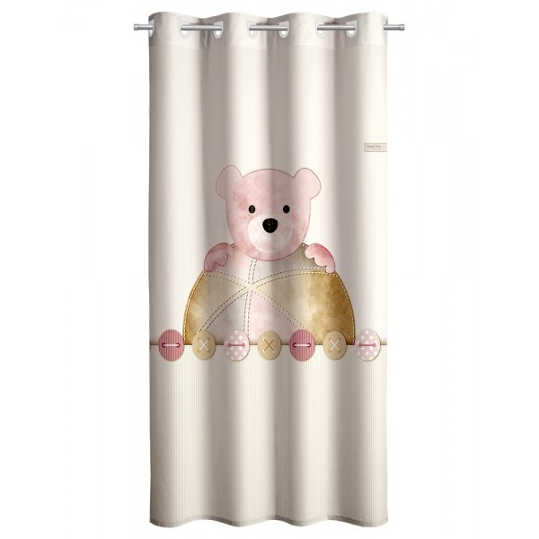 Saint Clair Saint Clair Υφασμάτινη κουρτίνα soft touch teddy rose 160x250