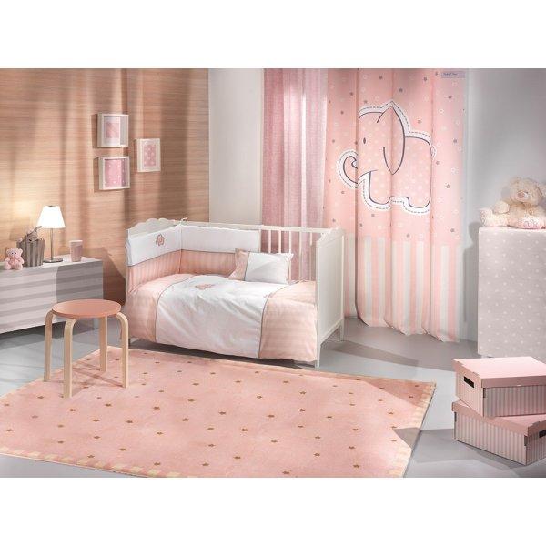 Saint Clair σετ προίκα  Africa pink 5 τεμ (πάντα, πάπλωμα, παπλωματοθήκη, μαξιλάρι, μαξιλαροθήκη)