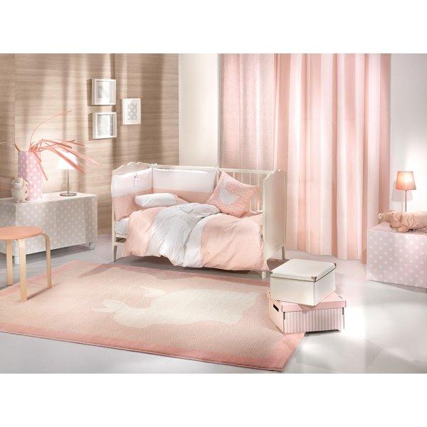 Saint Clair σετ προίκα  Lapin pink 5 τεμ (πάντα, πάπλωμα, παπλωματοθήκη, μαξιλάρι, μαξιλαροθήκη)