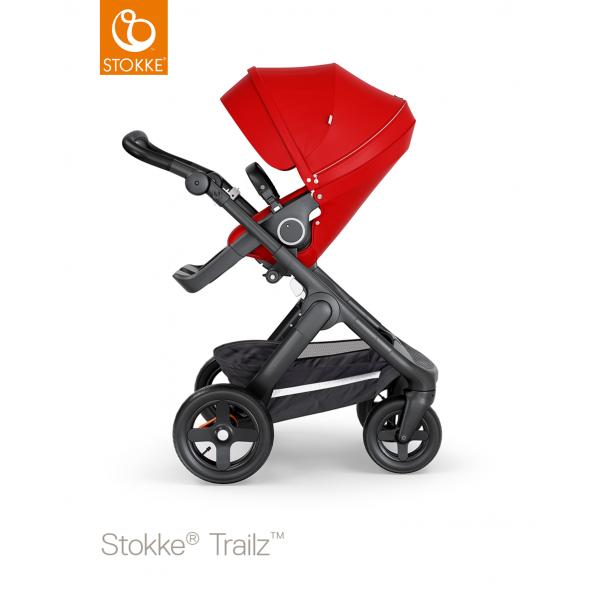 Stokke trailz παιδικό καρότσι red black chassis και terrain wheels