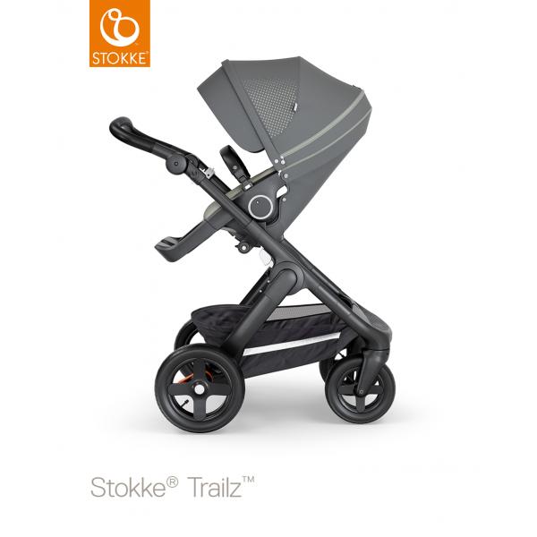 Stokke trailz παιδικό καρότσι Athleisure green black chassis και Terrain wheels