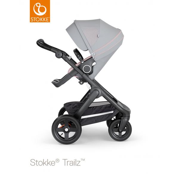 Stokke trailz παιδικό καρότσι Athleisure pink black chassis και Terrain wheels