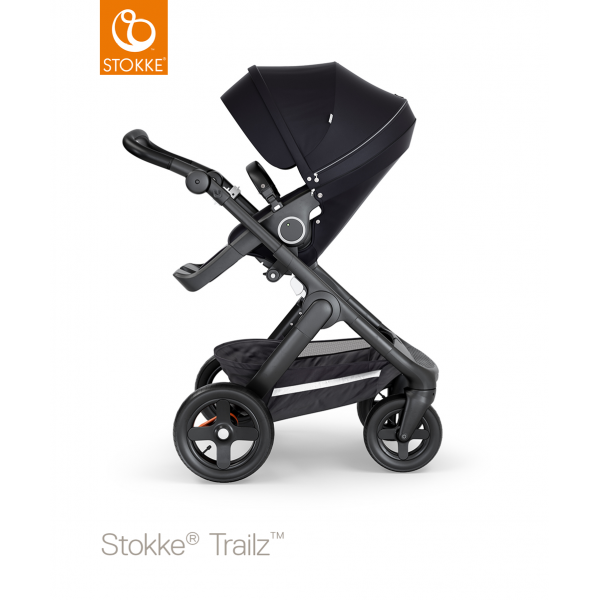 Stokke trailz παιδικό καρότσι μαύρο black chassis και Terrain wheels