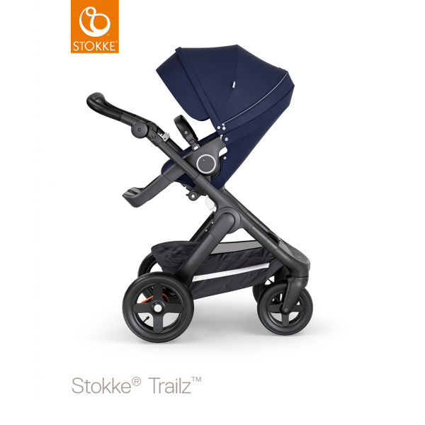 Stokke trailz παιδικό καρότσι deep blue black chassis και Terrain wheels