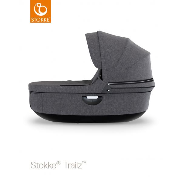 Stokke stroller black carry cot Black melange