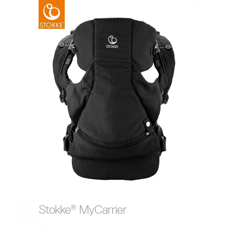 Stokke Mycarrier Front and Back Μάρσιπος Black