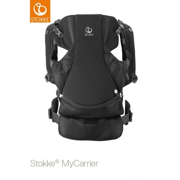 Stokke Mycarrier Front and Back Μάρσιπος Black Mesh