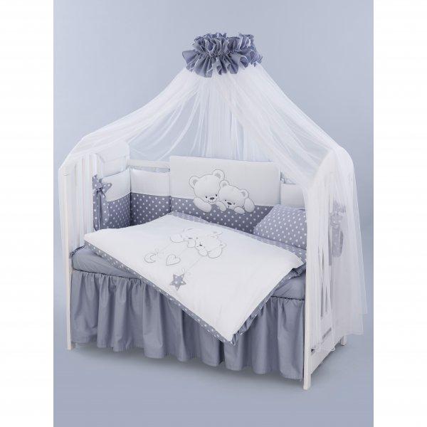 794e425dfab Tuttolina προίκα μωρού σετ 7 τεμαχίων cuddle bear grey 23
